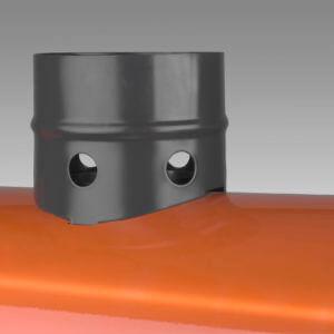 fireball 20t cap met rookgasafvoer dieselheater dieselkanon met afvoer 20kw